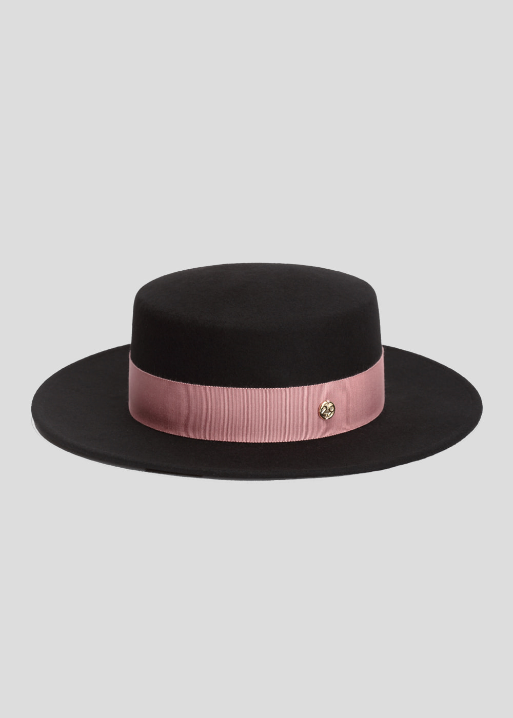 classic boater black/ Indian pink